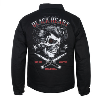 Herren Jacke BLACK HEART - DENY BOY - SCHWARZ, BLACK HEART