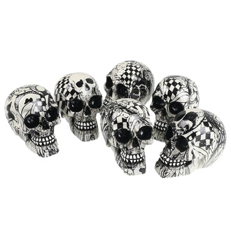 Dekorationen (6 Stück) Schädel Skull - Abstraction, NNM