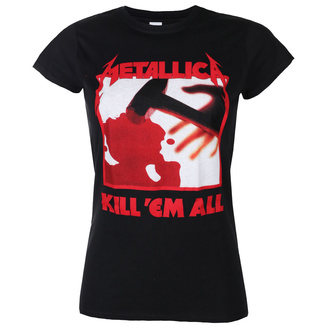 Damen T-Shirt METALLICA - KILL EM ALL TRACKS - SCHWARZ - PLASTIC HEAD, PLASTIC HEAD, Metallica