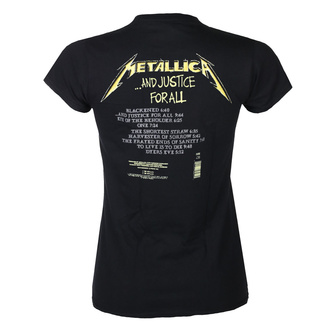 Damen T-Shirt METALLICA - AND JUSTICE FOR ALL TRACKS - SCHWARZ - PLASTIC HEAD, PLASTIC HEAD, Metallica
