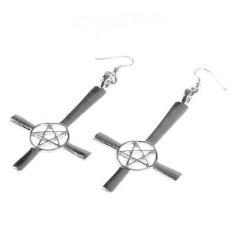 Ohrringe Kreuz/Pentagramm, FALON