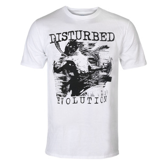 Herren T-Shirt Disturbed - Sketch - WHT - ROCK OFF, ROCK OFF, Disturbed