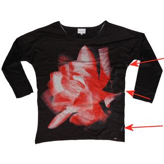 Frauen-T-Shirt mit langen Ärmeln Innocent lifestyle - MARLOWE - SCHWARZ - BESCHÄDIGT, INNOCENT LIFESTYLE