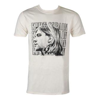 Herren T-Shirt Kurt Cobain - Contrast Profile - ROCK OFF, ROCK OFF, Nirvana