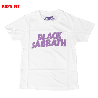 Kinder T-shirt Black Sabbath - Wavy Logo - ROCK OFF, ROCK OFF, Black Sabbath