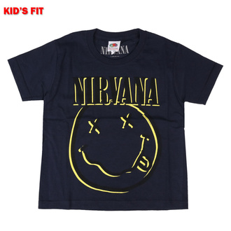 Kinder T-shirt Nirvana - Inverse Smiley - MARINE - ROCK OFF, ROCK OFF, Nirvana