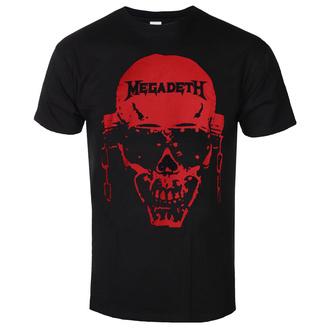 Herren T-shirt Megadeth - Contrast Red - ROCK OFF, ROCK OFF, Megadeth