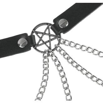 Gürtel Pentagramm, Leather & Steel Fashion