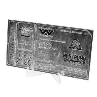Dekoration Alien - Replikat Nostromo Ticket, NNM, Alien: Das unheimliche Wesen aus einer fremden Welt