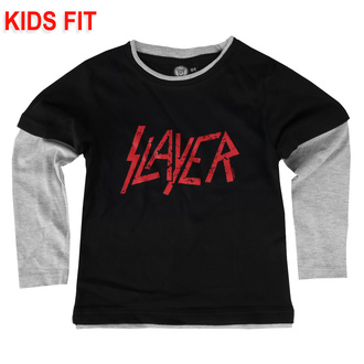 Kinder T-shirt mit langen Ärmeln Slayer - Logo, Metal-Kids, Slayer