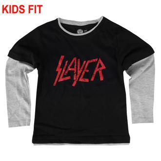 Kinder T-shirt mit langen Ärmeln Slayer - Logo, Metal-Kids, Slayer