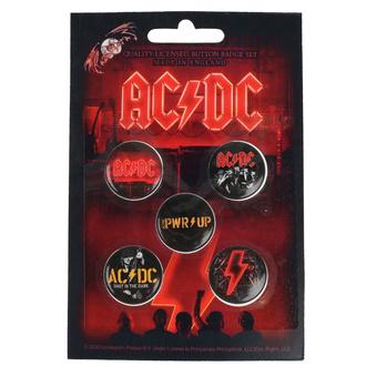 Button Abzeichen AC / DC - POWER UP - RAZAMATAZ, RAZAMATAZ, AC-DC
