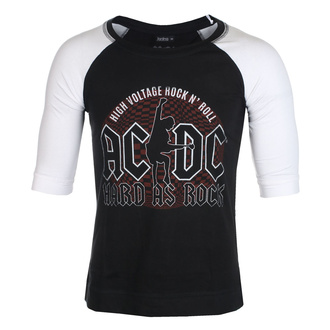 Unisex 3/4 Arm Shirt AC / DC - Hard As Rock - BL / WHT Raglan - ROCK OFF, ROCK OFF, AC-DC