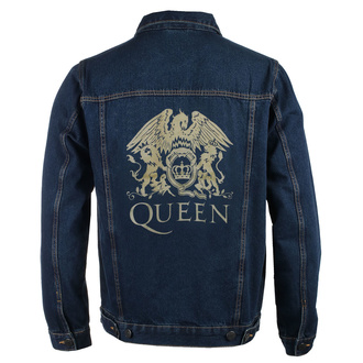 Herren Jacke Jeansjacke Queen - Classic - DENIM - ROCK OFF, ROCK OFF, Queen
