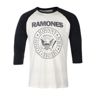 Herren 3/4 Arm Shirt RAMONES - CLASSIC LOGO - ECRU / SCHWARZ RAGLAN2 - GOT TO HAVE IT, GOT TO HAVE IT, Ramones