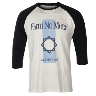 Herren 3/4 Arm Shirt FAITH NO MORE - WE CARE A LOT - ECRU / SCHWARZ RAGLAN - GOT TO HAVE IT, GOT TO HAVE IT, Faith no More