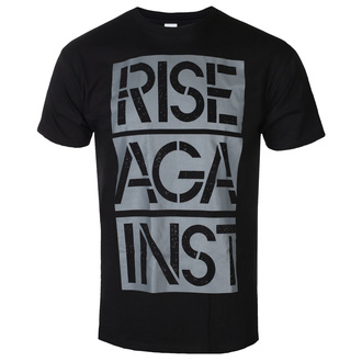 Herren T-shirt Rise Against - Stacked Ghost Notes Stencil - Schwarz, KINGS ROAD, Rise Against