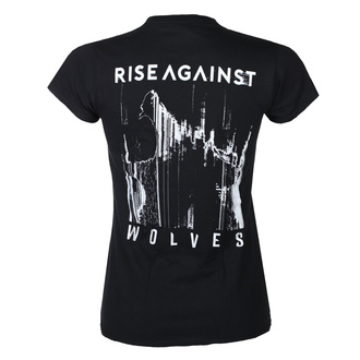 Damen T-shirt Rise Against - Wolves Pocket Girl Fitted - Schwarz, KINGS ROAD, Rise Against