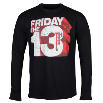 Herren Longsleeve Friday The 13th - Block Logo - Schwarz - HYBRIS, HYBRIS, Friday the 13th