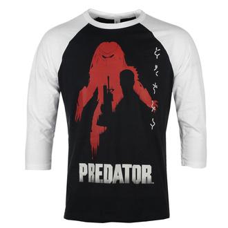Herren 3/4 Arm Shirt Predator - Poster Baseball - Weiß schwarz - HYBRIS, HYBRIS, Predator