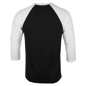 Herren 3/4 Arm Shirt Rocky - American Flag - Baseball - Weiß schwarz - HYBRIS, HYBRIS, Rocky