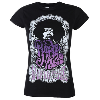 Damen T-Shirt Jimi Hendrix - Purple Haze World Tour - Schwarz - HYBRIS, HYBRIS, Jimi Hendrix