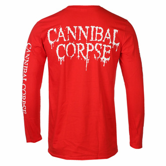 Herren Longsleeve CANNIBAL CORPSE - PILE VON SKULLS - ROT - PLASTIC HEAD, PLASTIC HEAD, Cannibal Corpse