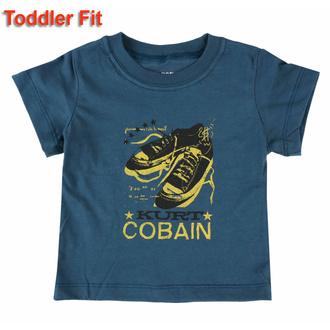 Kinder T-Shirt Nirvana - Kurt Cobain - MARINEBLAU, ROCK OFF, Nirvana
