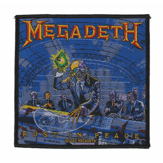 Patch MEGADETH - RUST IN PEACE, RAZAMATAZ, Megadeth