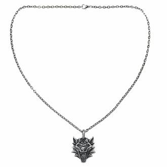 Halskette VIKING WOLF NORDIC MYTHOLOGY, Leather & Steel Fashion