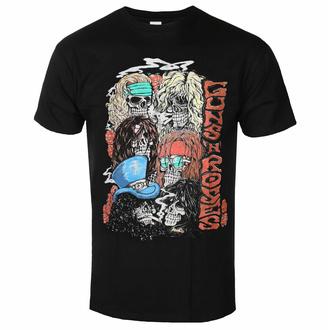 Herren T-Shirt Guns N' Roses - Stacked Skulls - Schwarz - ROCK OFF, ROCK OFF, Guns N' Roses