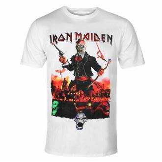 Herren T-Shirt Iron Maiden - LOTB Live In Mexiko City - Weiß - ROCK OFF, ROCK OFF, Iron Maiden
