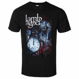 Herren T-Shirt Lamb Of God - Circuitry Skull Recolor - Schwarz - ROCK OFF, ROCK OFF, Lamb of God