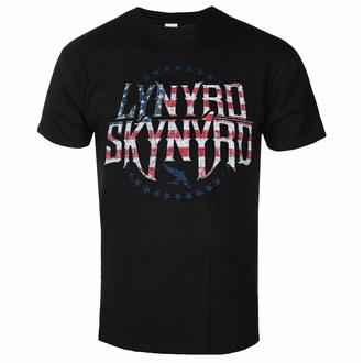 Herren T-Shirt Lynyrd Skynyrd - Stars & Stripes - Schwarz - ROCK OFF, ROCK OFF, Lynyrd Skynyrd