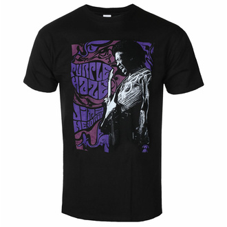 Herren T-Shirt Jimi Hendrix - Purple Haze - Schwarz - ROCK OFF, ROCK OFF, Jimi Hendrix