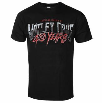 Herren T-Shirt Mötley Crüe - 40 years F&B - Schwarz - ROCK OFF, ROCK OFF, Mötley Crüe
