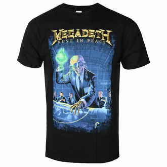 Herren T-Shirt Megadeth - Rust In Peace 30th Anniversary - Schwarz - ROCK OFF, ROCK OFF, Megadeth