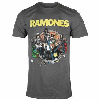 Herren T-Shirt Ramones - Road To Ruin - Charcoal - ROCK OFF, ROCK OFF, Ramones