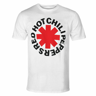 Herren-T-Shirt Red Hot Chili Peppers - Roter Asterisk - Weiß, NNM, Red Hot Chili Peppers