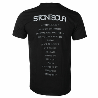 Herren T-Shirt Stone Sour - Audio Secrecy Square BL - ROCK OFF, ROCK OFF, Stone Sour