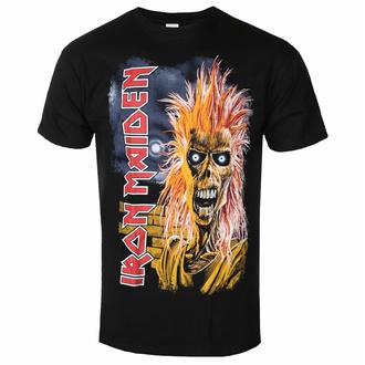 Herren-T-Shirt Iron Maiden - Erstes Album Tracklist V3 BL - ROCK OFF, ROCK OFF, Iron Maiden