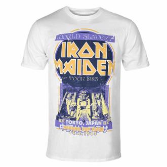 Herren-T-Shirt Iron Maiden - Powerslave Japan Flyer WHT - ROCK OFF, ROCK OFF, Iron Maiden