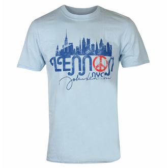 Herren T-Shirt John Lennon - NYC Skyline LHT BLAU - ROCK OFF, ROCK OFF, John Lennon