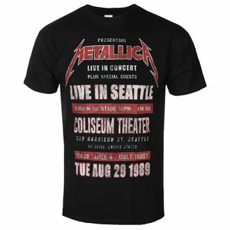 Herren T-Shirt Metallica - Seattle '89 BL ECO - ROCK OFF, ROCK OFF, Metallica