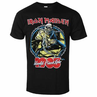 Herren-T-Shirt Iron Maiden - World Piece To ur '83 V2 BL - ROCK OFF, ROCK OFF, Iron Maiden
