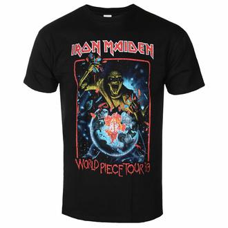 Herren-T-Shirt Iron Maiden - World Piece To ur '83 V1 BL - ROCK OFF, ROCK OFF, Iron Maiden