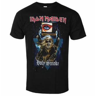 Herren-T-Shirt Iron Maiden - Holy Smoke Space Triangle BL - ROCK OFF, ROCK OFF, Iron Maiden