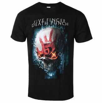 Herren-T-Shirt Five Finger Death Punch - Schnittstelle Totenkopf BL - ROCK OFF, ROCK OFF, Five Finger Death Punch