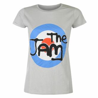 Damen-T-Shirt The Jam Spray Target Logo GRAU - ROCK OFF, ROCK OFF