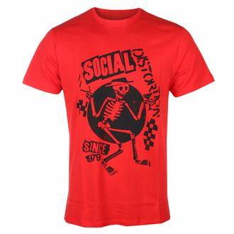 Herren-T-Shirt Social Distortion - Speakeasy Checkerboard ROT - ROCK OFF, ROCK OFF, Social Distortion